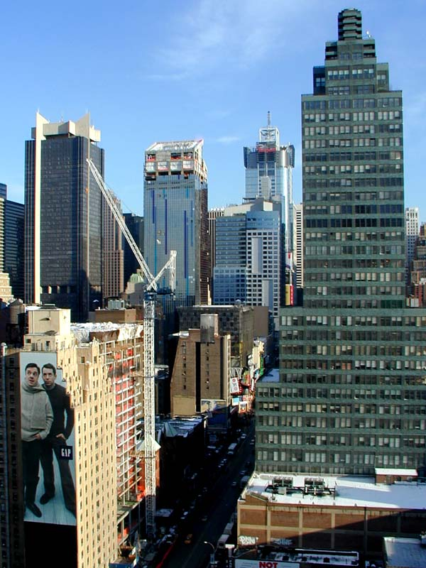 The view of the westin new york at times square hotel from 420 w 42nd