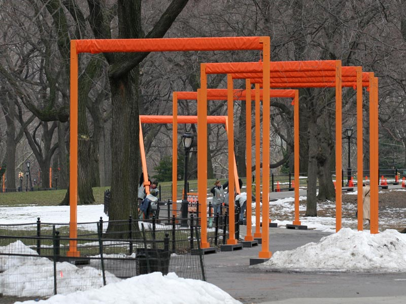 the installation of gates continues sheep meadow 8 february 2005