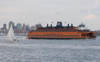 Staten Island Ferry in New York Harbor