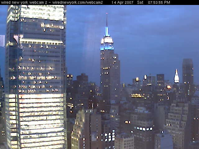 Wired New York Webcam 2 started operation at it's new location at the Orion.